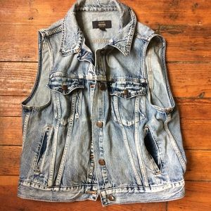 J.crew indigo denim vest XL